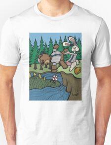 Teddy Bear And Bunny - The Baseball T-Shirt