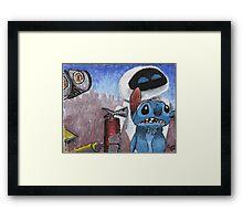 Stitch and Friends Framed Print