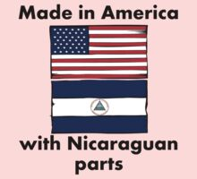 Made In America With Nicaraguan Parts Kids Clothes