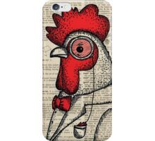 Rooster with Monocle iPhone Case/Skin