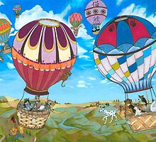 The Balloon Race by SiSterArt