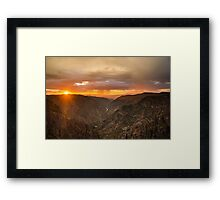 Sunset Overlook - Black Canyon of the Gunnison National Park, Colorado Framed Print