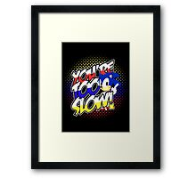 Sonic - Tee (different design on graphic tee) Framed Print
