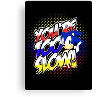 Sonic - Tee (different design on graphic tee) Canvas Print