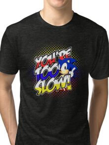 Sonic - Tee (different design on graphic tee) Tri-blend T-Shirt