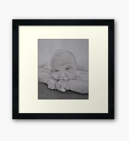 A2 Graphite pencil Framed Print