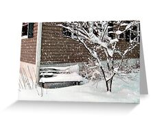 Bench Covered In Snow Greeting Card