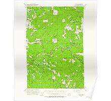 USGS Topo Map Washington State WA Toutle 244332 1953 62500 Poster