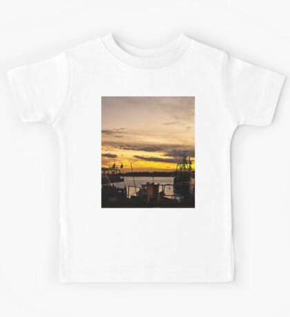 Dusk at the Fish Quay Kids Tee