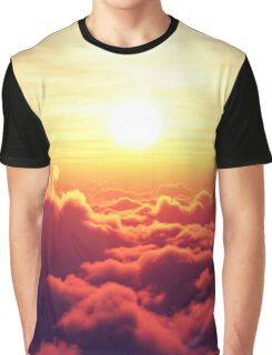 Sunrise above clouds Graphic T-Shirt