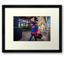 Super Horse Man? Framed Print