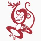 Red Monkey by drawgood
