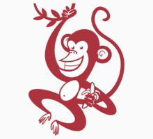 Red Monkey by drawgood