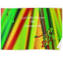 God Richly bless- Christmas card Poster
