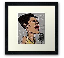 Billie Holiday 'Lady Day' by Shan Stumpf Framed Print