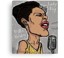 Billie Holiday 'Lady Day' by Shan Stumpf Canvas Print
