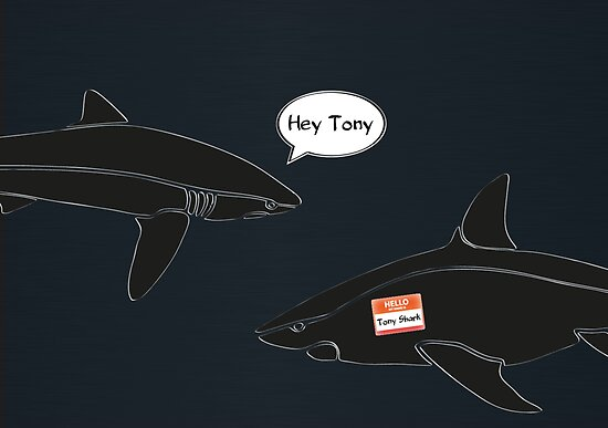 i am tony shark by Emma Harckham