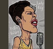 Billie Holiday 'Lady Day' by Shan Stumpf Unisex T-Shirt