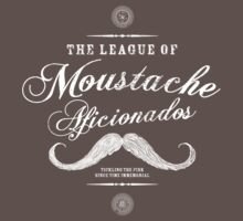 Movember - Moustache Afficionado League white by gazbar