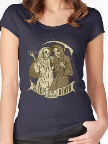 Sleep is the cousin of Death Women's Fitted Scoop T-Shirt