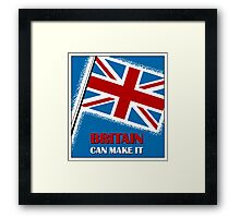 Britain can make it,  retro vintage Framed Print