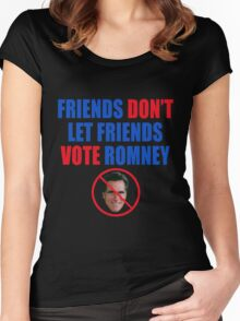 No Romney Women's Fitted Scoop T-Shirt