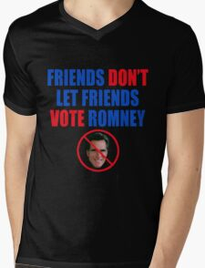 No Romney Mens V-Neck T-Shirt