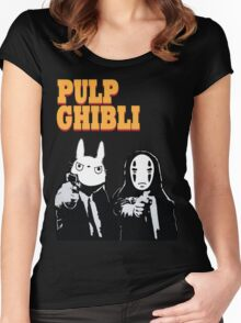 Pulp Ghibli - Studio Ghibli and Pulp Fiction Women's Fitted Scoop T-Shirt