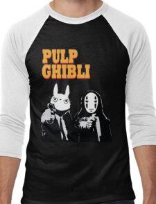 Pulp Ghibli - Studio Ghibli and Pulp Fiction Men's Baseball ¾ T-Shirt