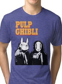Pulp Ghibli - Studio Ghibli and Pulp Fiction Tri-blend T-Shirt