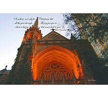 Christmas~4th Presbyterian Church Photographic Print