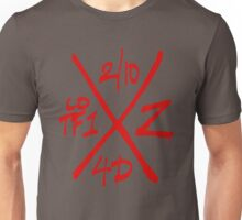 Dead Walking Zombie X-Code (RED) Unisex T-Shirt
