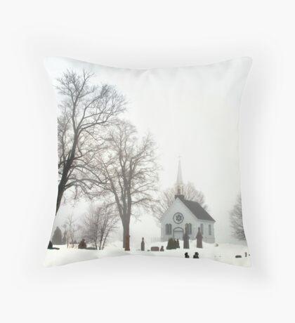 White Scene Throw Pillow