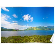 Sea coast landscape in Hong Kong Geo Park Poster