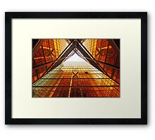Abstract image of office windows Framed Print