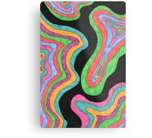 Psychedelic Topography Metal Print