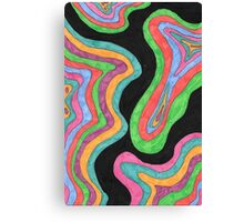 Psychedelic Topography Canvas Print