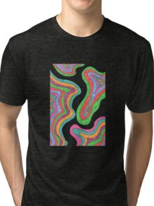 Psychedelic Topography Tri-blend T-Shirt