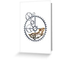 Industrial Silver Dog Greeting Card