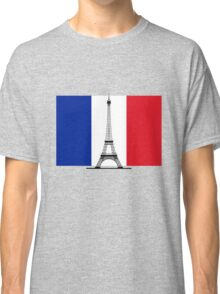 France Flag, Eiffel Tower Classic T-Shirt