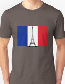 France Flag, Eiffel Tower T-Shirt