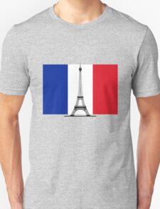 France Flag, Eiffel Tower Unisex T-Shirt