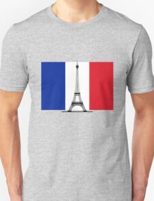 France Flag, Eiffel Tower T-Shirt
