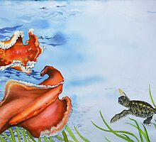 Turtle Tango with the Spanish Dancers by Carol McLean-Carr