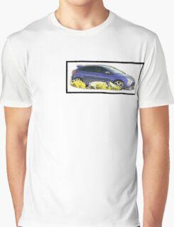 Focus ST Mk3 Performance Blue Photo Graphic T-Shirt