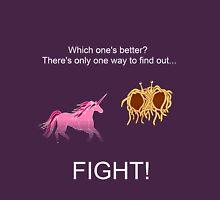 Invisible Pink Unicorn vs Flying Spaghetti Monster (dark) Unisex T-Shirt