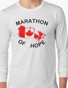 Marathon of Hope, 1980 v2 Long Sleeve T-Shirt
