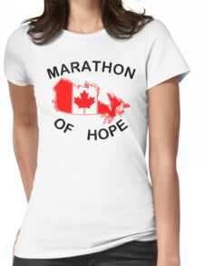 Marathon of Hope, 1980 v2 Womens Fitted T-Shirt