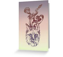 Foxnake at Sunrise Greeting Card