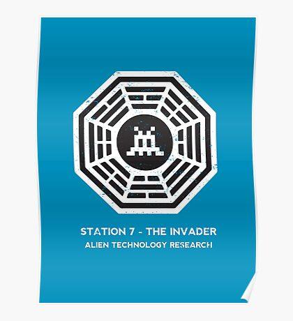 Station 7 - The Invader Poster